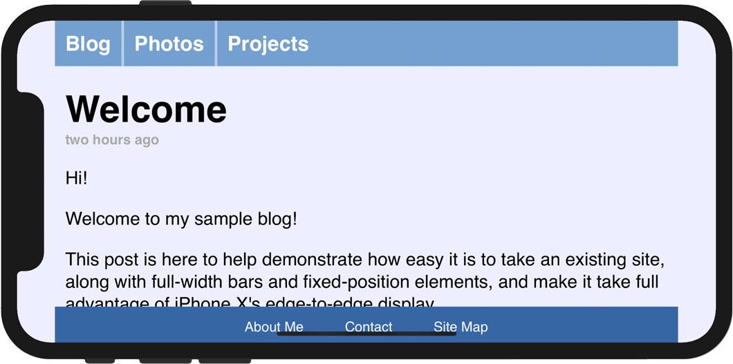 Designing Websites for iPhone X