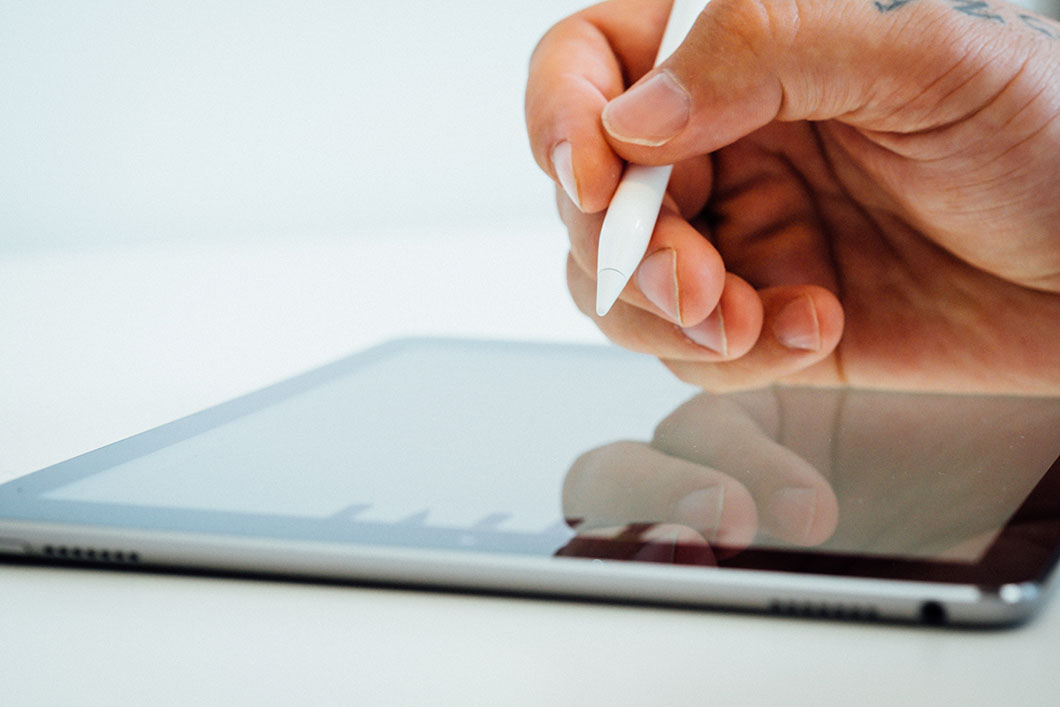web design tablet