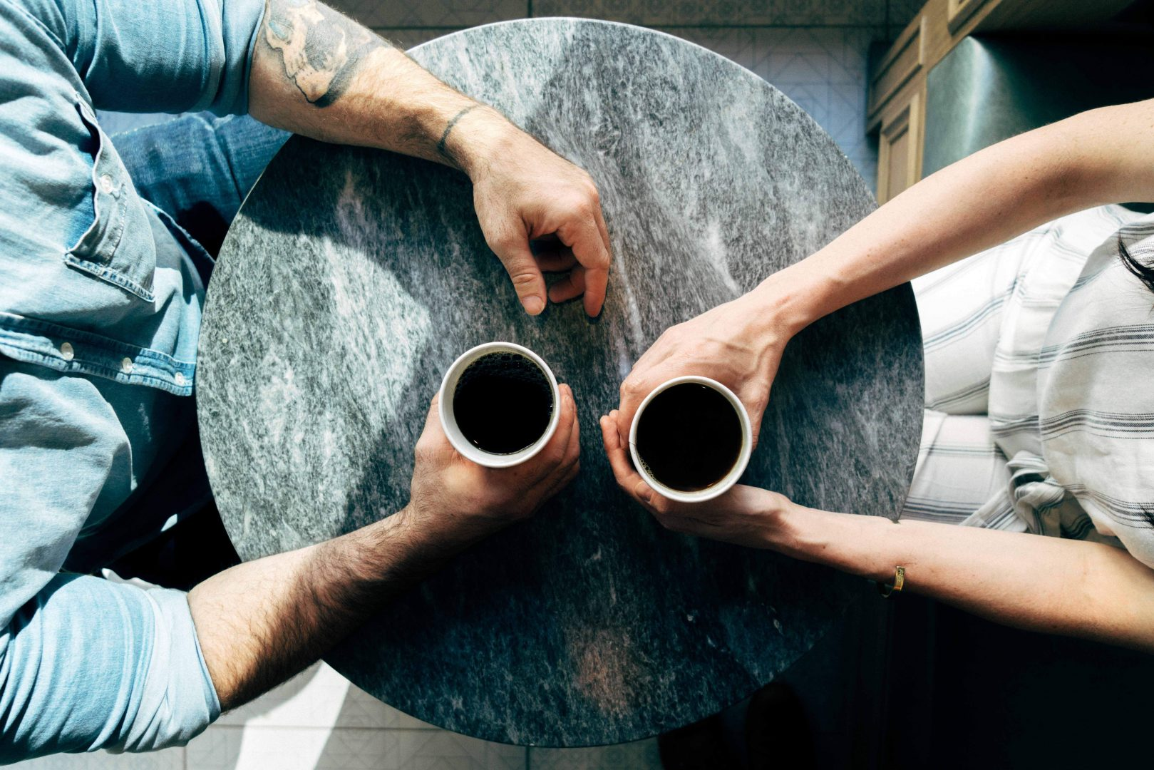 Ask a colleague to grab a good old cup of Joe together to make a great break for both of you.