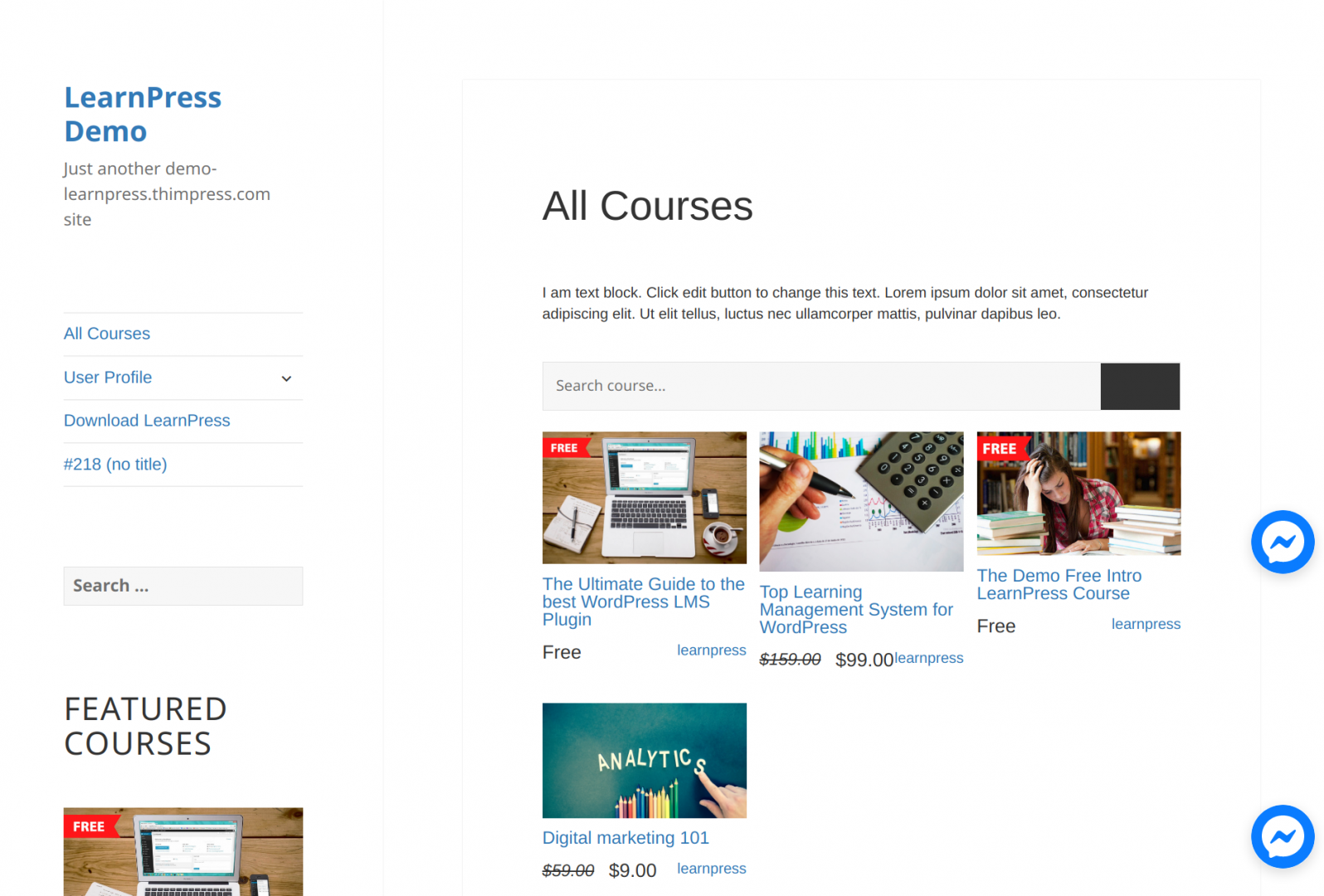 PayPal support is one of the best LMS's features - and is included in LearnPress.