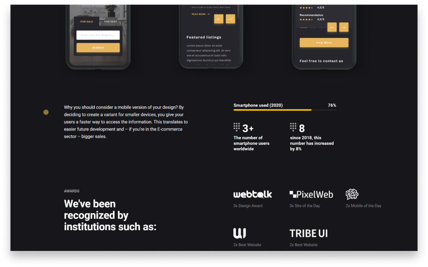 Darkmode is another powerful trend in web design, with giants like Facebook and Instagram already using it.