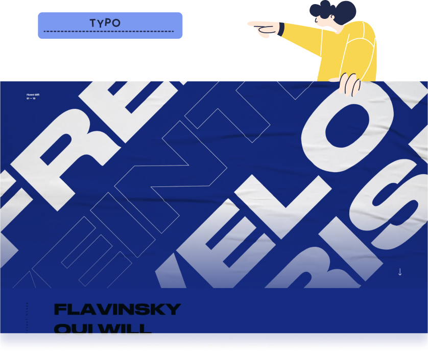 Typography is a strong web design trend for quite some time now. Florent Biffi website is a perfect example of this notion.